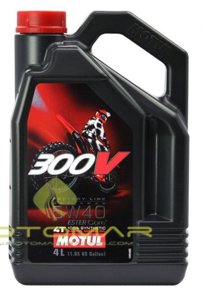 ACEITE MOTUL 300V RACING 5W40 4T 4L