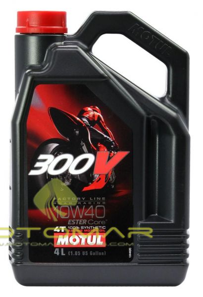 ACEITE MOTUL 300V RACING 10W40 4T 4L