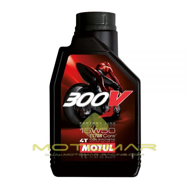 ACEITE MOTUL 300V RACING 15W50  4T 1L