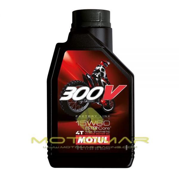 ACEITE MOTUL 300V RACING 15W60 4T 1L