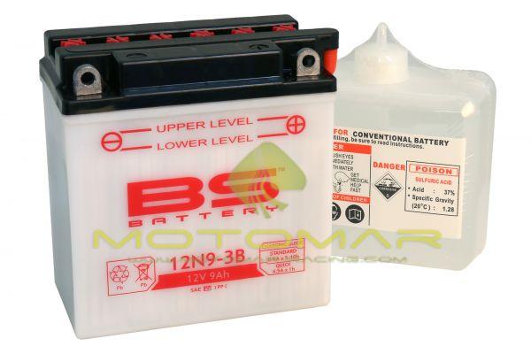 BATERIA BS BATTERY 12N9-3B