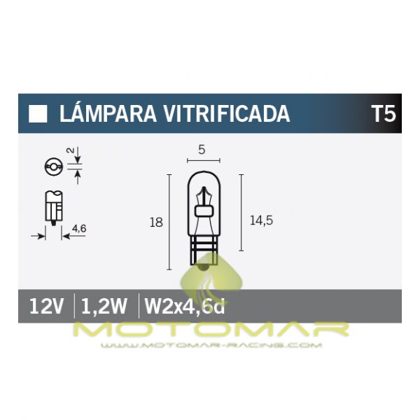 LAMPARA OSRAM 2721 12V1,2W