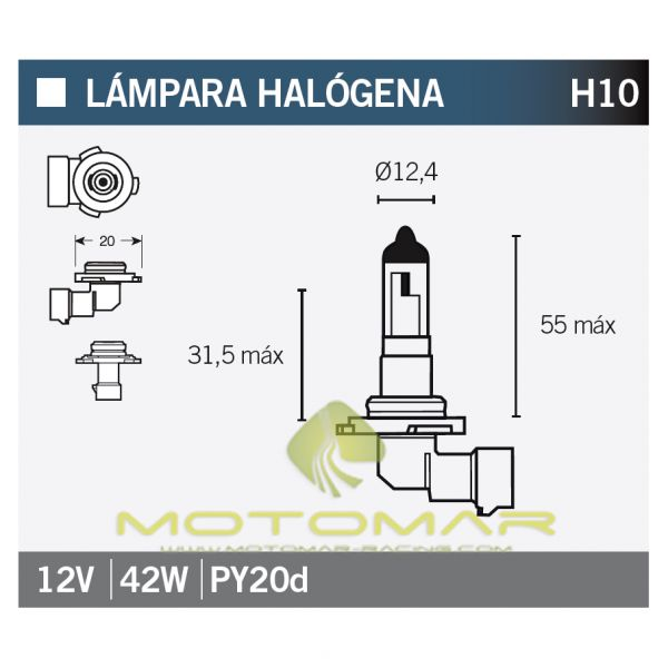 LAMPARA OSRAM 9145RD H10
