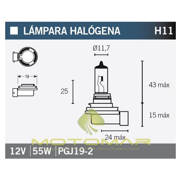 LAMPARA OSRAM 64211NBP H11