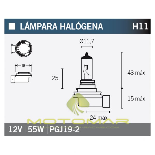 LAMPARA OSRAM 64211 H11
