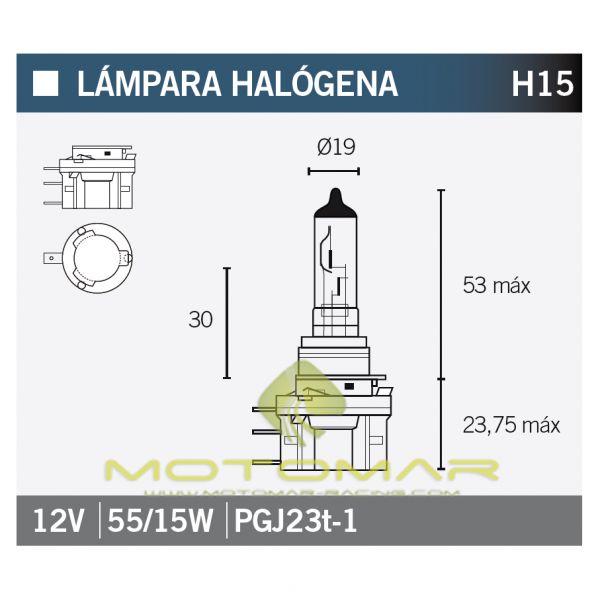 LAMPARA OSRAM 64176 H15