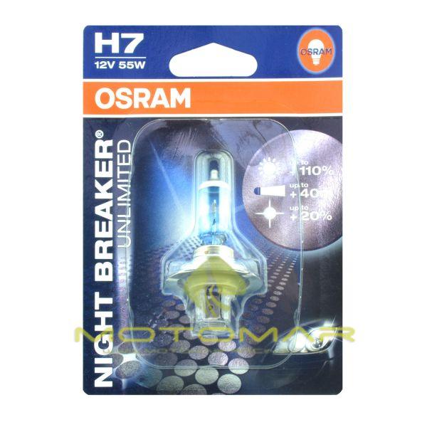 LAMPARA OSRAM H7 NIGHT BREAKER UNLIMITED