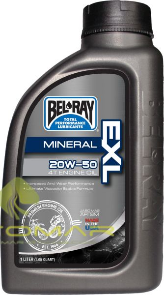 ACEITE BELRAY EXL 4T 20W50 MINERAL 1L