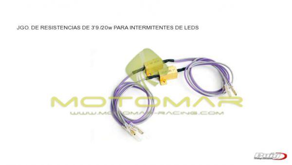 JGO. RESISTENCIAS 3,9 OHMS/25W PARA INTERM. DE LED