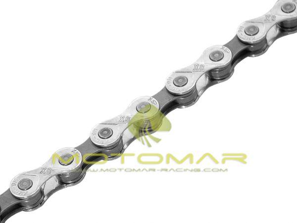 CADENA KMC X8-92 116 PASOS 8V COLOR CROMO/GRIS