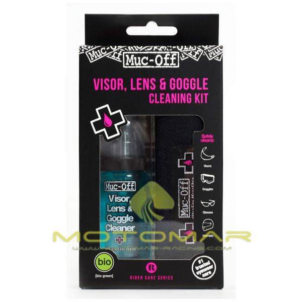 KIT LIMPIADOR VISERAS MUC-OFF HELMETS & VISOR CLEANER 35ML