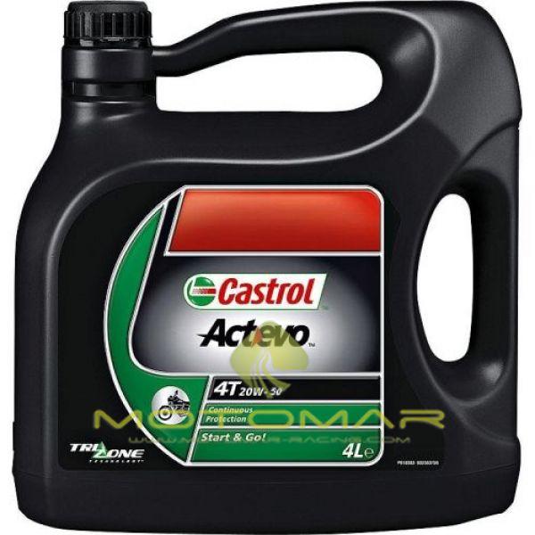 ACEITE CASTROL MOTO ACTEVO 20W50 4T 4L