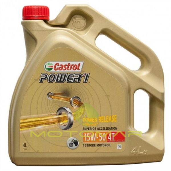 ACEITE CASTROL MOTO POWER 1 4T 15W50 4L