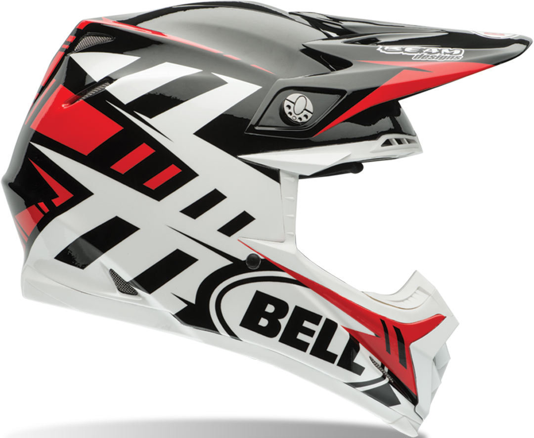 CASCO BELL MOTO-9 FLEX SYNDROME BLANCO/ROJO/NEGRO