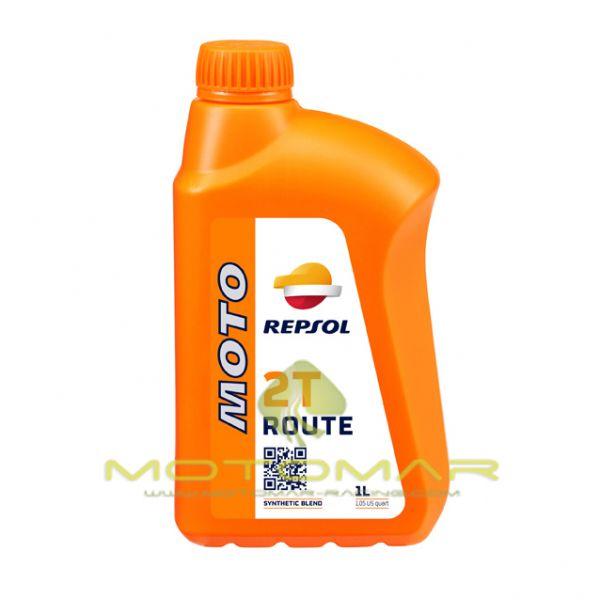 ACEITE REPSOL MOTO SINTETICO ROUTE 2T 1L