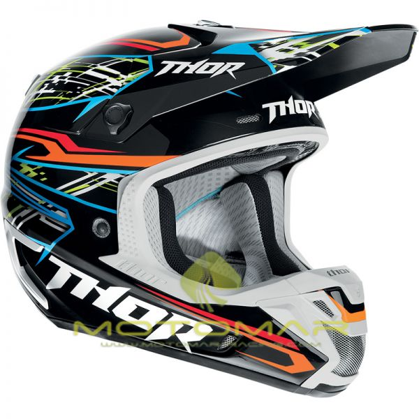 CASCO THOR VERGE BOXED NEGRO/BLANCO