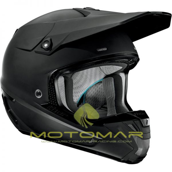 CASCO THOR VERGE SOLIDS NEGRO MATE