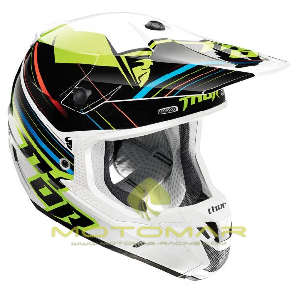 CASCO THOR VERGE STACK BLANCO/FLUOR