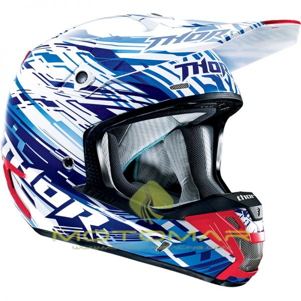 CASCO THOR VERGE TWIST AZUL/ROJO