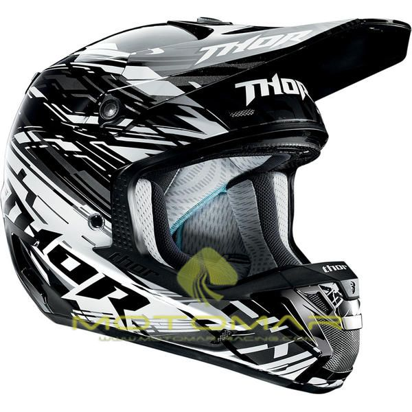 CASCO THOR VERGE TWIST NEGRO/BLANCO