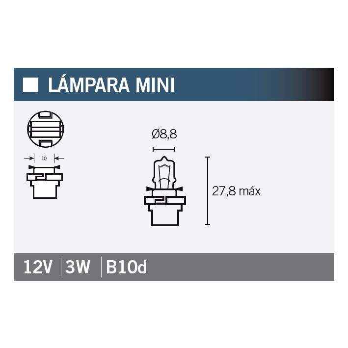 LAMPARA OSRAM 64122MF 12V3W