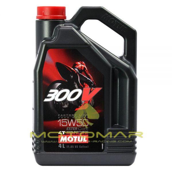 ACEITE MOTUL 300V RACING 15W50 4T 4L
