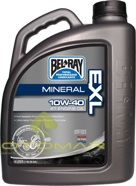 ACEITE BELRAY EXL 4T 10W40 MINERAL 4L