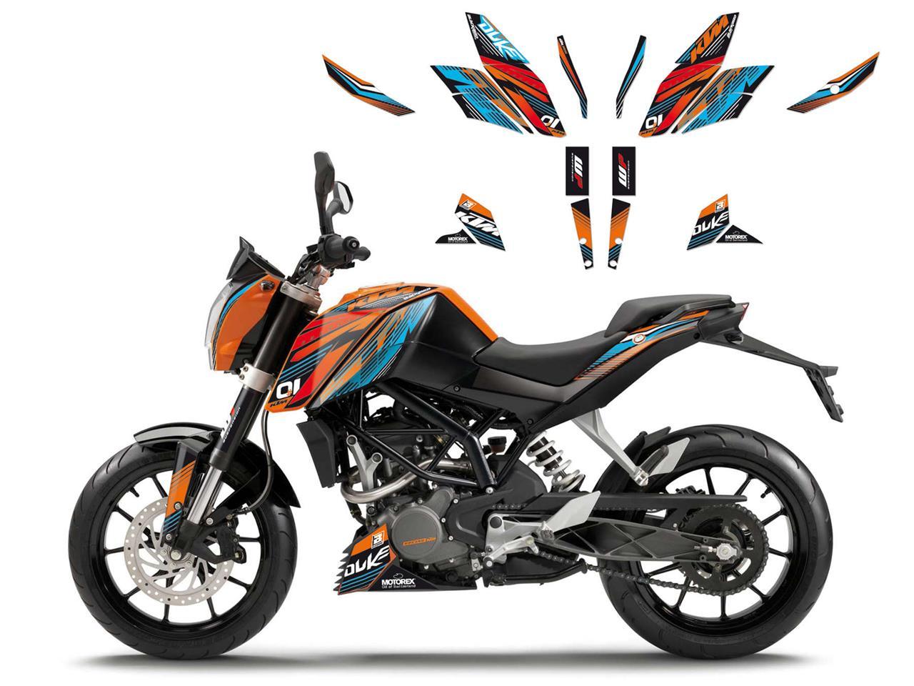 KIT ADHESIVOS BLACKBIRD ONERAC KTM 390 13> / KTM DUKE 200 12/14 / KTM DUKE 125 11>