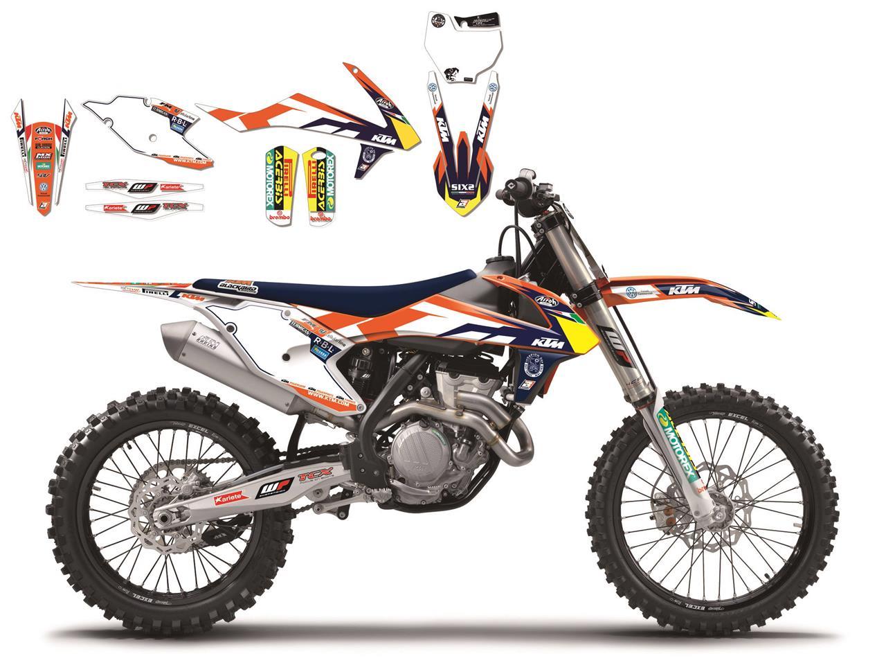 KIT ADHESIVOS BLACKBIRD TEAM KTM TROPHY KTM SX-F 450 16> / KTM SX-F 350 16> / KTM SX-F 250 16> / KT