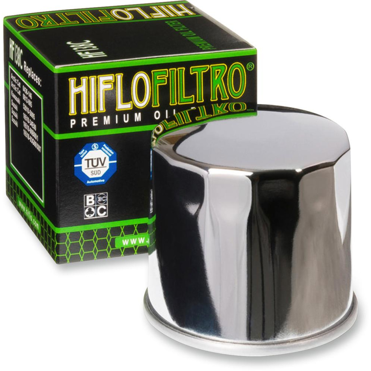 FILTRO ACEITE HIFLOFILTRO HF138 CROMADO
