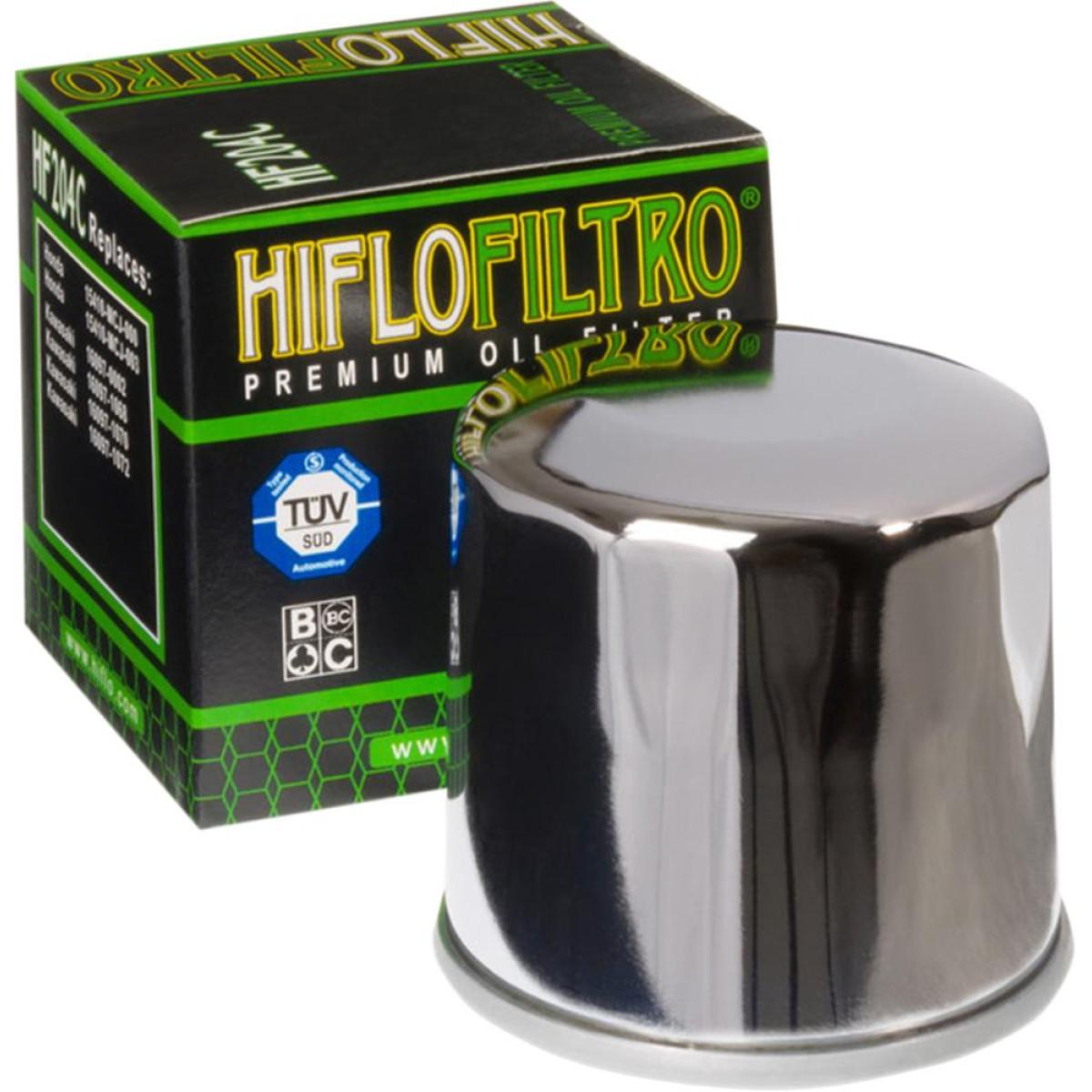 FILTRO ACEITE HIFLOFILTRO HF204 CROMADO
