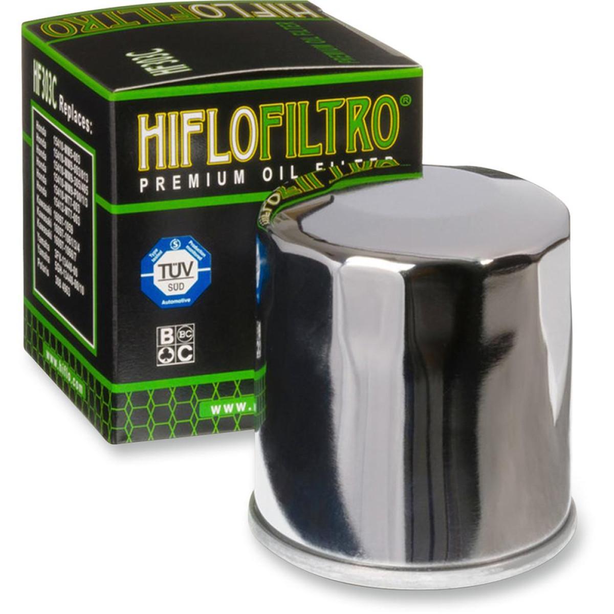 FILTRO ACEITE HIFLOFILTRO HF303 CROMADO