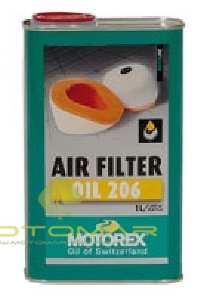 ACEITE MOTOREX FILTRO AIRE 206 LIQUIDO 1L